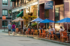 the north point (paul noble photography) Tags: maine vacationland oldportportlandmaine oldport cafe thenorthpoint newengland newenglandcoast portlandmaine portlandharbor portlandrestaraunts 4thofjuly summerinmaine summerevening summer goldenhour goldenhournikond7000 golden nikon2470mmf28 streetphotography