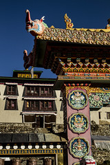 Tengboche Monastery arch (Adept Photography) Tags: nepal stupa monastery nepalese yaks everest himalayas 2016 tengboche stupas