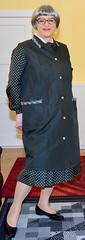 Ingrid022428 (ingrid_bach61) Tags: dress mature kleid kittel pleatedskirt nylonoverall faltenrock