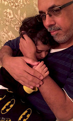 Priceless Moments! (haidarism (Ahmed Alhaidari)) Tags: son daughter mother father parents loe cuddle hug embrace honey darling sleep priceless moment khalid