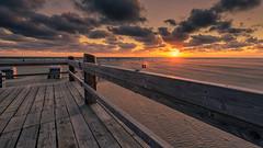 Board fence  HFF! (Stefan Sellmer) Tags: light sunset sky color beach water clouds germany de deutschland sand colorful flickr outdoor northsea schleswigholstein stpeterording hff sanktpeterording