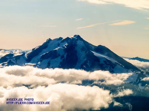 Glacier Peak peaking over the clouds
