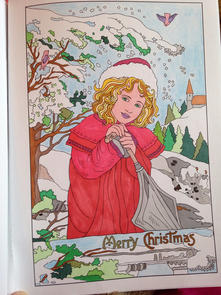 Vintage Christmas Greetings Coloring Book Dover Promarkers Et Lyra Delphinecingal Tags