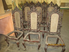 Side Chairs (Leo Cloma) Tags: furniture antique philippines manila antiques cloma