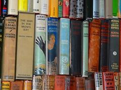 A STACK OF BOOKS (agathaccat) Tags: murder collins agatha agathachristie dustjacket antiquebooks whodunnit antiquarianbooks crimeclub mallowan
