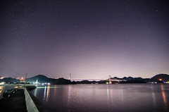 stars (motonari1611) Tags: ocean sea sky japan night island star hiroshima