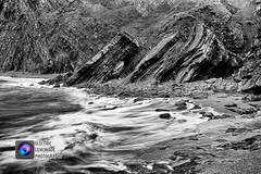 Hartland Quay (Electric Lemonade Photography) Tags: cliff white black rock sandstone fuji sac quay devon strata geology coal slippery hartland shale crumple culm carboniferous siltstone mudstone xt1 sssi marksimpson siteofspecialscientificinterest specialareaofconservation brokenribs electriclemonadephotography