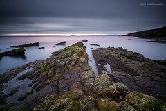On Foreign Shores... (Damon Finlay) Tags: longexposure bw seascape coast scotland rocks long exposure fife 10 forth stop filter r fujinon f4 firth firthofforth kirkcaldy xf ois seafield nd110 1024mm bwnd11010stopfilter fujixe1 fujinonxf1024mmf4rois