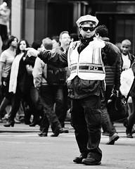 Director (Mary Susan Smith) Tags: street travel vacation urban newyork blackwhite uniform tour traffic manhattan candid police cop superhero intersection policeman streetshot challengeyouwinner cychallengewinner thechallengefactory tcfwinner nypdofficer herowinner pregamewinner gamesweepwinner