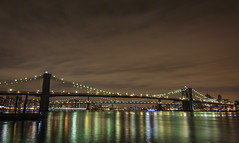 Brooklyn Bridge (Hendrixsrv) Tags: world new york city nyc bridge building beautiful architecture brooklyn night river photography one photo nikon long exposure center architect nighttime wtc hudson trade d7100