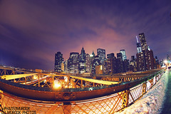 Lower Manhattan.. (dj murdok photos) Tags: nyc longexposure bridge newyork brooklyn manhattan sony fullframe 16mmfisheye mirrorless djmurdokphotos sonya7 ilce7