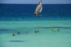 Zanzibar Fishing (Matt Champlin) Tags: ocean africa travel blue beach nature beautiful canon tanzania boat fishing paradise peaceful boating tropical zanzibar dhow 2014