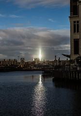 Shiny Monument (MakCanon) Tags: bridge sunlight londonbridge rays shard