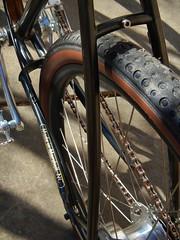 Jonathan's Cruiser-- Detail (Capricorn Bicycles) Tags: orange classic bike bicycle speed drum handmade five steel fatty brake archer custom velocity cruiser blunt velo 5speed igh sturmey rumpkin