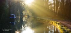 Bollington canal 27 Dec 2014 (Stuart Howarth Photographer) Tags: winter light water canal cheshire sunny dec rays 27 macclesfield bollington 2014