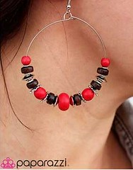 Sunset Sightings Red Earrings K2 P5921A-3