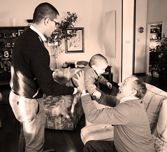 Tre generazioni di Bianchi (letiziabianchi) Tags: family dad son grandad granfather fhater