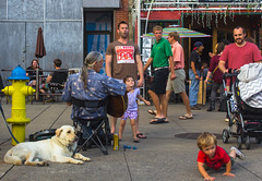 The Fall Guy. (moony: stupidly dreamy) Tags: street people musician color kid downtown knoxville tennessee marketplace guitarist