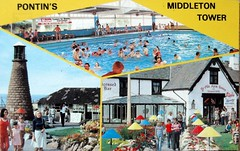 Pontins Middleton Tower Holiday Camp, Morecambe (trainsandstuff) Tags: middletontower holidaycamp pontins morecambe retro vintage postcard swimming swimmingpool pool