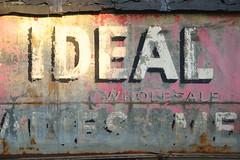 Ideal (KaDeWeGirl) Tags: newyorkcity sign les store manhattan lowereastside explore faded hosiery ideal wholesale i