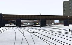 Leicesborough snow 1 (skodatrainz) Tags: peak mk2 trainz dmu bluegrey mk1 midlandmainline brblue class45 class116 ts12 leicesborough