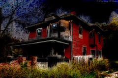 Another House On A Hill (Fly Sandman) Tags: house abandoned photoshop neglected haunting ghosts darkfantasy haunts