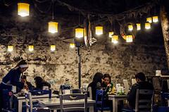 Fish at the Roman wall (Melissa Maples) Tags: night turkey restaurant nikon ruins asia trkiye antalya nikkor vr hadrianswall afs  romanruins 18200mm  f3556g  18200mmf3556g d5100 trbalk