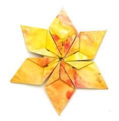 Fujimoto hexagone Rosette  29 front (Pliages et vagabondages) Tags: origami rosette décoration déco fujimoto hexagone