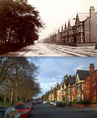Greenbank Road, Wavertree, 1900s and 2015 (Keithjones84) Tags: liverpool thenandnow merseyside oldliverpool