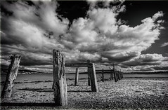 Amazing Grace (Perkvats Havatkov) Tags: sea bw clouds mono coast pier shore donegal amazinggrace buncrana johnnewton loughswilly