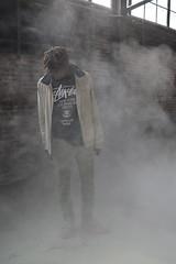 'The Fog' ii. (miranda.valenti12) Tags: windows portrait mist abandoned face misty fog factory smoke x warehouse dreads surrounded stussy xzavier