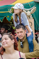 Father with Daughter on Sholders (Kevin MG) Tags: ca costumes girls usa cute youth losangeles pretty little young faire renfaire adolescent renaissance renaissancefaire preteen irwindale socalrenfaire