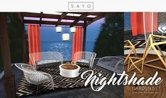 SAYO - Nightshade Garden Set @ U L T R A (Kayami Osakki (SAYO)) Tags: life set garden secondlife second decor pergola sayo sayostore