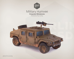 Humvee / Military Vehicle / Empress Miniatures (berlintuesday) Tags: painting miniatures model war gun painted military battle vehicle empress humvee wargame tabletop minis wargames wargaming