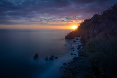 Sunset Maro Beach (anya friedrich) Tags: sunset beach atardecer andalucia malaga nerja maro sonnenuntergng