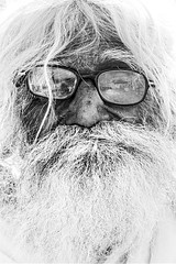 White Experience (Tarang Jagannath) Tags: oldpeople age old man human portrait beard blackandwhite face streetphoto