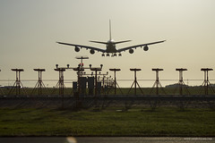 British Airways A380 on final into YVR (Zorro1968) Tags: travel sunset vancouver airplane aircraft aviation transportation airbus a380 yvr britishairways vancouverinternationalairport