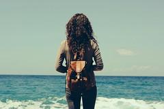 Vintage mood (Shahrazad_84) Tags: ocean sea sky leather vintage mediterranean mediterraneo personal reggiocalabria backpack scilla calabria