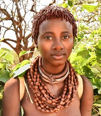 Young Wife, Hamar Tribe (Rod Waddington) Tags: africa portrait people female beads costume outdoor african traditional young tribal wife afrika omovalley ethiopia tribe ethnic hamar hamer ethnicity afrique ethiopian omo thiopien etiopia ethiopie etiopian
