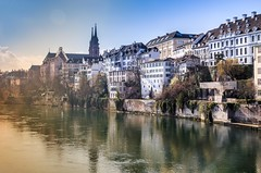 Basel (toobusyforbs) Tags: city sun history castles water river ray basel blueskies medival zwitzerland