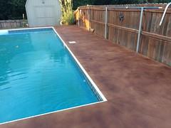 Pool Deck Trowel Texture & Stain3 (Decorative Concrete Kingdom) Tags: brown texture stain pool deck smiths