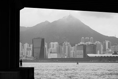 Fishing in The City (2) (Gomen S) Tags: china city urban blackandwhite bw hk landscape hongkong nikon asia afternoon tropical 2016 d5200 1685mm