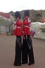 Pretty tall Guards! (j.a.sanderson) Tags: girls uniform flags guards blackpool stilts pleasurebeach