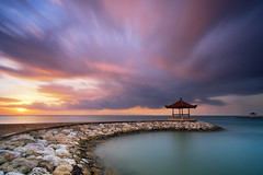Colorful Cloudy Sky above Karang Beach [Explored] (eggysayoga) Tags: fujifilm fuji xt1 samyang 12mm rokinon bower ncs cs f20 f2 wide ultra angle lens lee 06 hard graduated nd gnd filter beach sanur karang pantai bali indonesia asia cloud bale gazebo sekepat bengong sun sunrise sea seascape landscape seaside shore ocean haida nd1000 nd30 bigstopper longexposure le ss slowspeed slowshutter motion tarikan cloudy sky