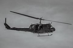 Bell UH-1 (dietmar-schwanitz) Tags: bw berlin monochrome germany deutschland flying blackwhite bell flight airshow helicopter sw monochrom ila brandenburg heli hubschrauber lightroom fliegen bellhelicopter bundeswehr flug schnefeld helikopter uh1 flugshow schwarzweis dietmarschwanitz nikond750 sigma150500mmf5063apohsm ila2016