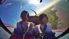"Right turn at the south bank of the River Forth to return back to Perth; looking west down the Forth Estuary. Hands free GoPro shot from inside the ""bubble!"" (Jen_wilsonphotography) Tags: scotland flying aviation microlight riverforth gopro forthestuary ev97eurostar"