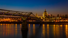 St. Paul's Cathedral (primulmeusarut) Tags: london millennium bridge st pauls cathedral river thames skyline outdoor architecture water