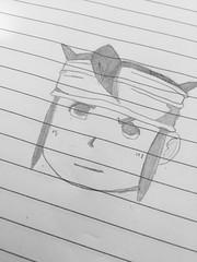 Mark Evans - Inazuma Eleven drawing (The Real Sligor) Tags: anime evans mark soccer manga eleven inazuma