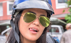 Crazy biker (Ammar Crazzy) Tags: streets asian 50mm glasses nikon asia thai nikkor thaigirl d810 50mm18g