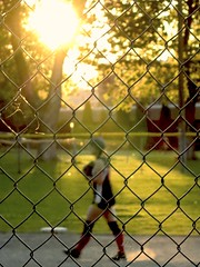 IMG_0603 (SheffieldStar) Tags: sunlight sports women profile kit chainlinkfence localpark midstride womenssoftball
